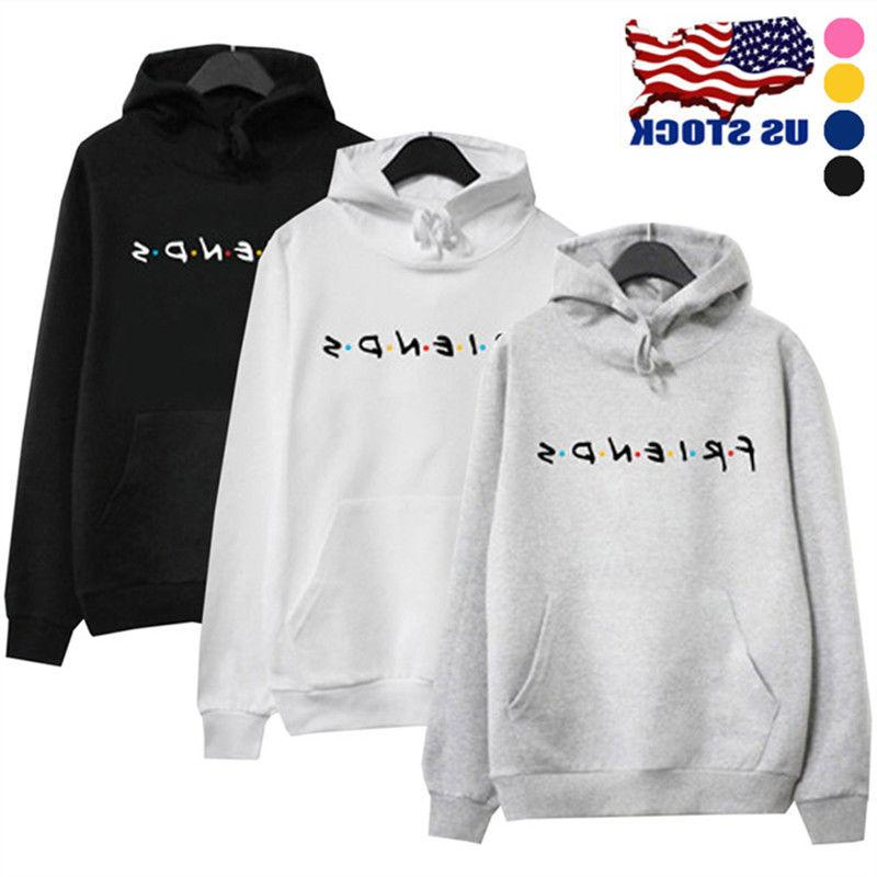 womens friends print hoodie hoody sweatshirt ladies