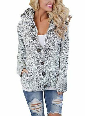 womens lightweight button up cozy ladies knit