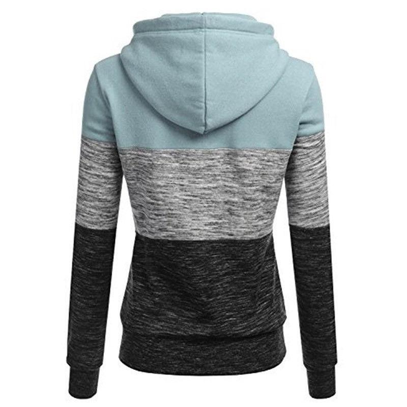Womens Sweatshirt Pocket Hooded Sweater Pullover