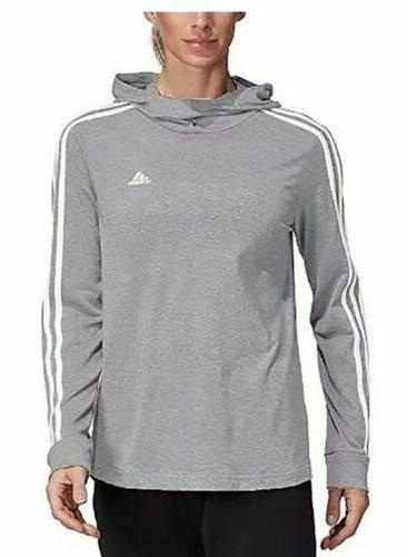 Adidas Women's Transition Lightweight Jersey Hoodie Grey L