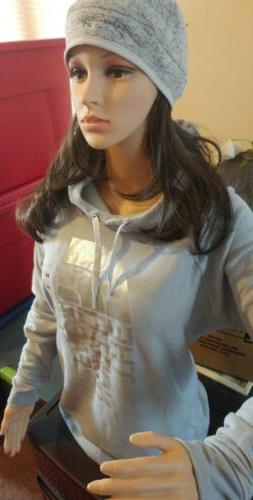XL The North Face Womens Light Gray Silver Hoodie NWT $65