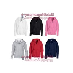 Ladies Full Zip Gildan Heavy Blend Hooded Sweatshirt- Womens