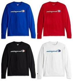 Champion LIFE Men's Cotton Casual Crew Neck Long Sleeve Tee