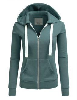 Lightweight Thin Zip-Up Hoodie Jacket for Women with Plus Si