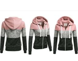 Doublju Lightweight  Zip-Up Hoodie Jacket for Women 3X NEW