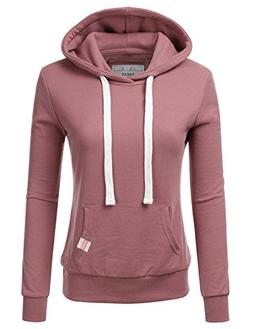NINEXIS Womens Long Sleeve Fleece Pullover Hoodie Sweatshirt
