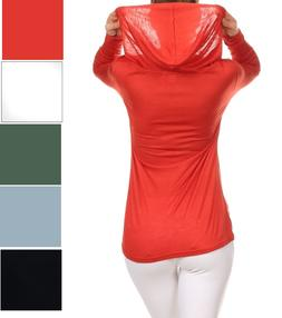 Low price Hooded Women's Tops Long Sleeve Lightweight Casual