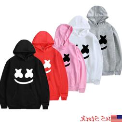 marshmello Men Women Hoodie Sweater Hip-hop Skateboard Sweat