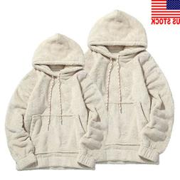 Men Women Winter Fleece Casual Sweatshirt Hoodie Hooded Swea