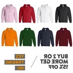 MEN'S WOMEN'S PLAIN FULL ZIPPER HOODIE CASUAL ZIP UP JACKET