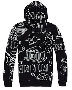 Mens Womens Digital Print Autumn Winter Hooded Sweater Sweat