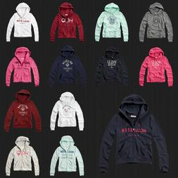 New Hollister By Abercrombie Women Sweater Embroidered Logo
