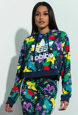 NEW ADIDAS ORIGINALS WOMEN'S BLOSSOM OF LIFE CROPPED TREFOIL