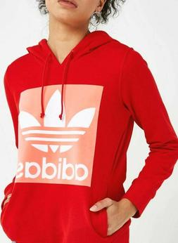 NEW ADIDAS ORIGINALS WOMEN'S TREFOIL HOODIE  ~SIZE LARGE  #C