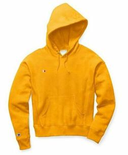 NEW CHAMPION REVERSE WEAVE GARMENT DYED CARTOON YELLOW PULLO