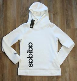 NEW Adidas White Fleece Sweatshirt Pullover Fleece Hoodie Wo