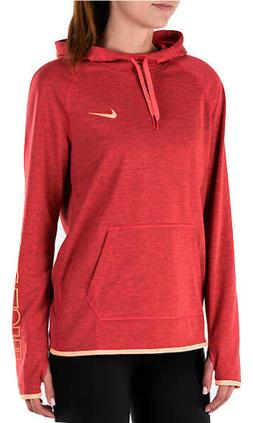 NEW WOMEN'S NIKE DRI-FIT FLEECE HOODIE SWEATSHIRT!!! IN RED