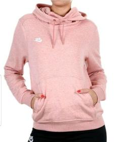 NEW Nike Women's Funnel Neck Pullover Hoodie 942100 Pink Hea