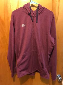 north face womens fave lite lfc full zip hoodie amaranth pur