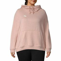 NWT NIKE Logo Women's Plus Size Hoodie Sweatshirt Heather Pi