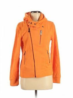 NWT Doublju Women Orange Zip Up Hoodie M