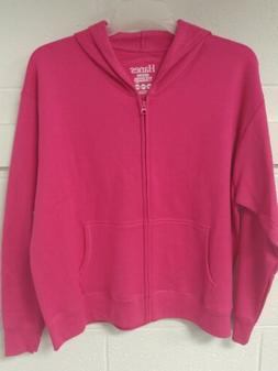 * NWT Women's 2XL Bright Pink Zip Up Hoodie Says 50 Inch Che