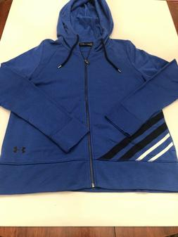 NWT Women's Under Armour Blue French Terry Full Zip Hooded S