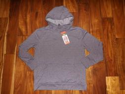 NWT Womens CHAMPION Blue Striped Pullover Hoodie Jacket Swea