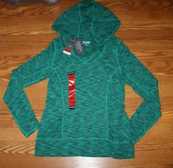 NWT Womens KIRKLAND Green Heather Pullover Hoodie Active Jac