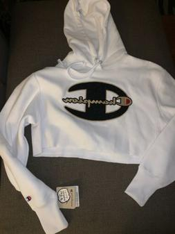 NWT Women's Champion Reverse Weave Cropped Studded Hoodie