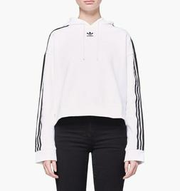 Adidas Originals Women's Cropped Hoodie NEW AUTHENTIC White/