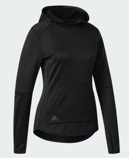 ADIDAS OWN THE RUN HOODIE LOGO BLACK 3M ACTIVE LIGHT NEW NWT