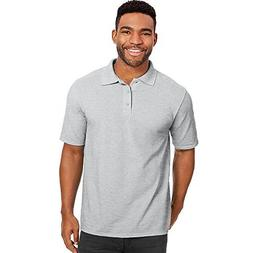 Hanes by X-Temp Men's Pique Polo Shirt_Light Steel_5XL