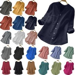 Plus Size Womens Long Sleeve Baggy T-Shirt Tunic Tops Ladies