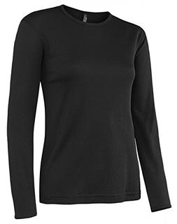 Terramar Sports Women's Polypro Crew XL Black