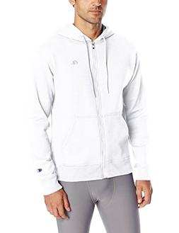 Champion Men's Powerblend Sweats Full Zip Jacket White S
