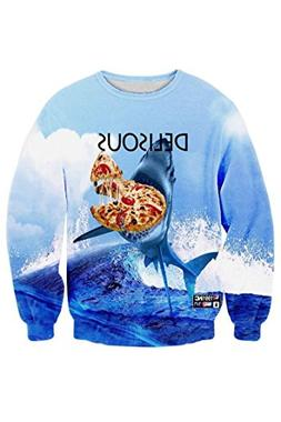 Ancia Unisex Digital Print Crew Neck Pullovers Sweater Sweat