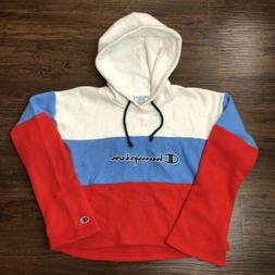 Champion Reverse Weave Cropped Fit Hoodie Women's Medium Col