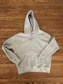 Champion Reverse Weave Hoodie Womens Large Gray Double Logo