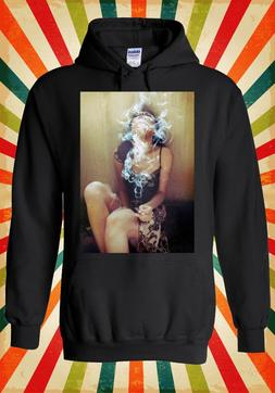 Sexy Smoking Girl Drug High Novelty Men Women Unisex Top Hoo