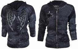 SINFUL by AFFLICTION Women Hoodie Sweatshirt ZIP UP Jacket G