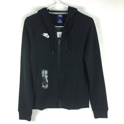 NIKE Sportswear Women's Full Zip Fleece Hoodie, Black/Black/
