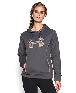 Under Armour Women's Storm Caliber Hoodie, Carbon Heather/Re