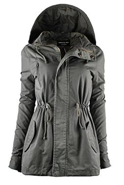 TOP LEGGING TL Women's Militray Anorak Parka Hoodie jackets
