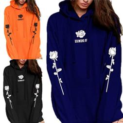 US Men Women Long Sleeve Hoodie Sweatshirt Hooded Jumper Coa