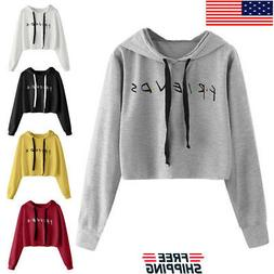 us womens friends letter printed blouse hoodie