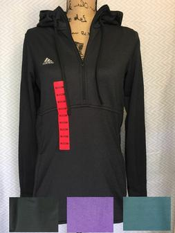 Adidas Womans 1/4 Zip Trans Hoodie Pullover Jacket Thumb Sli