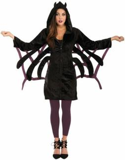 Womans Adult Zippered SPIDER HOODIE Dress Costume Accessory