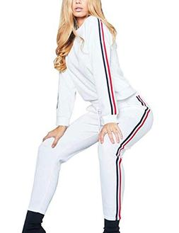 Women Casual Pullover Hoodie Sweatpants 2 Piece Sport Tracku