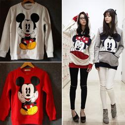 Women Cute Mickey Mouse Hoodie Sweatshirt Coat Long Sleeve C